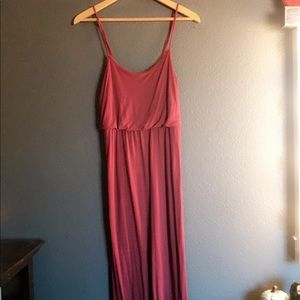 Long Burgandy Summer Dress
